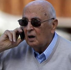 Giorgio Napolitano during his holidays