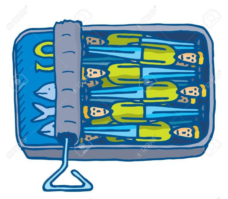 35479429-illustrazione-del-fumetto-di-persone-angusta-insieme-in-piccole-sardine-può