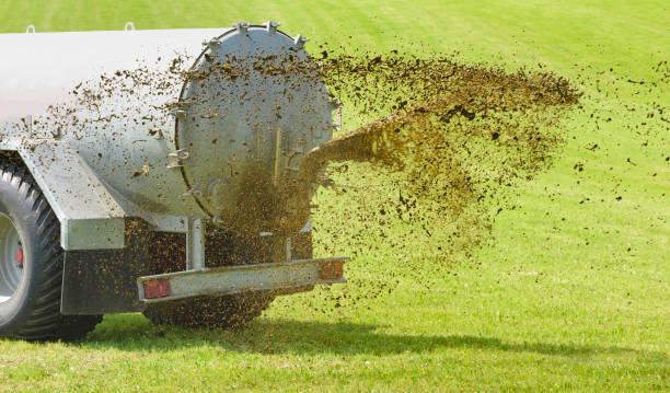 fertilization with liquid manure in Bavaria, Germany